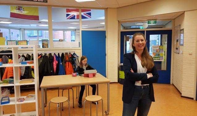 Schooldirecteur Anne Suijdendorp in de Dorpsbeuk.