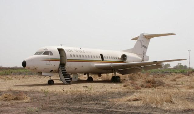 De Fokker F-28 in Mali.