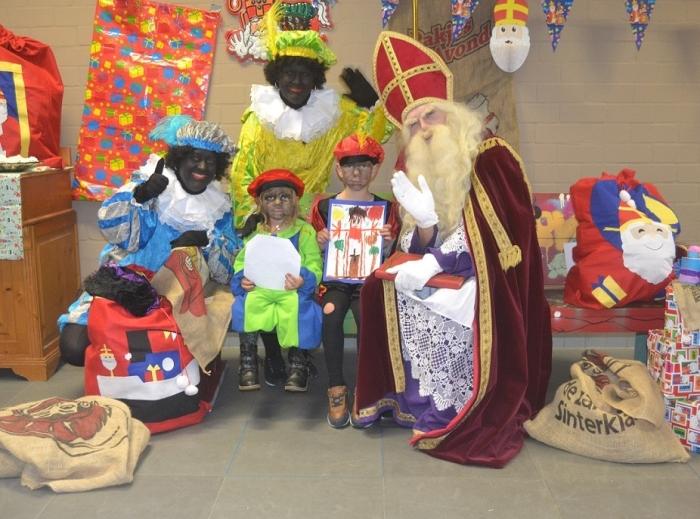 Sinterklaas op bezoek in het Creatief Centrum