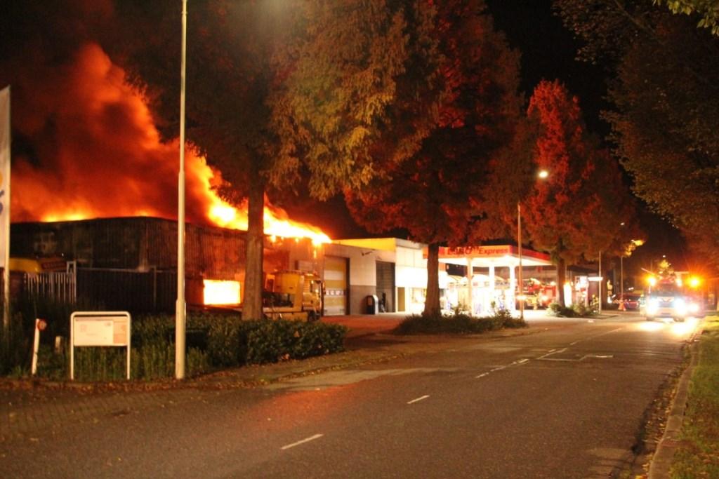 Takelbedrijf Kooijman ging in November in vlammen op.  Herbert van Dalen © BDU Media