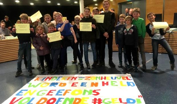 Eerder dit jaar kwamen kinderen van De Zonheuvel al naar de gemeenteraad om actie te voeren.