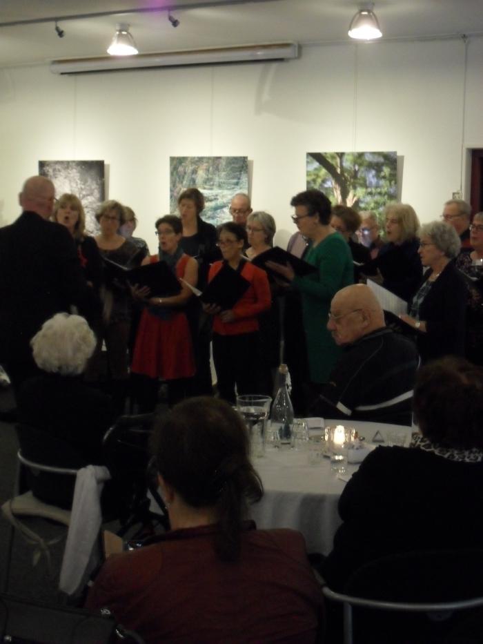 optreden van het koor Mediant Willy van de Burg © BDU