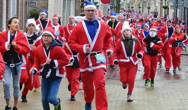 De elfde Rotary Santa Run in Gorinchem was weer een succes.