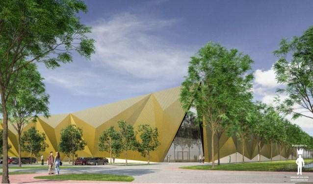 Een impressie van het nieuwe Muntgebouw in Houten.
