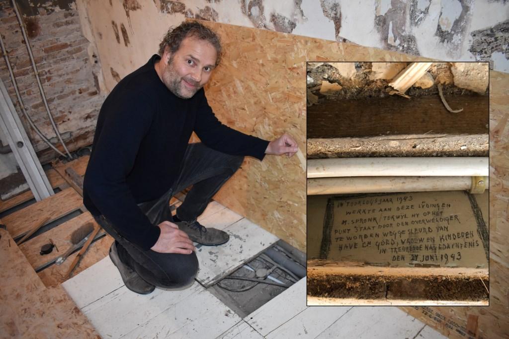 In februari werd er een bijzondere tekst gevonden tijdens een verbouwing Tim Hartman © BDU Media