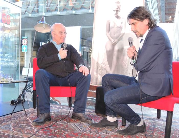 straat-o-loog Pim van den Berg met Matthijs den Hollander