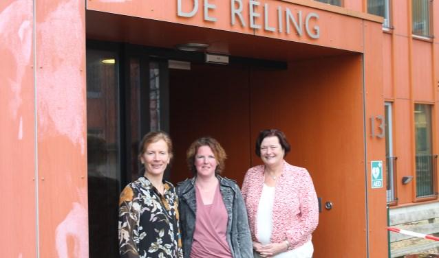 Angela Wagenmakers van SWS (l) , Patricia Bouwman (m) en Hanny Visser.