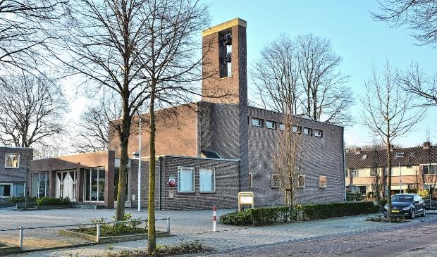 <p>De Maranathakerk aan de Hertenlaan van de hervormde gemeente Lunteren.</p>