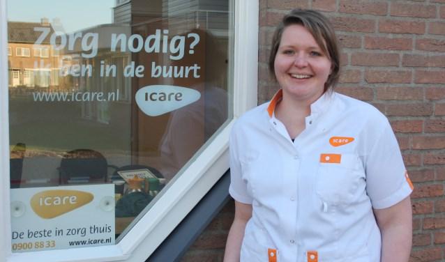 Wijkverpleegkundige Nienke van Kammen van Icare Putten.