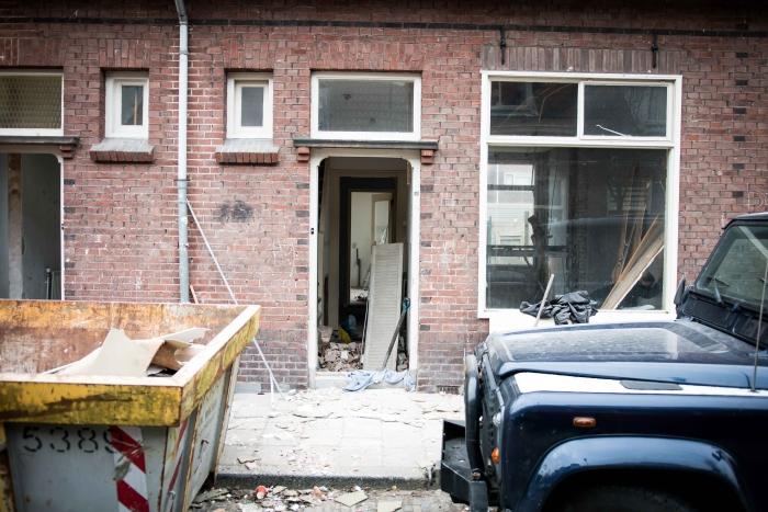 In het weekend is de straat een bouwterrein Hesse de Jonge © BDU media
