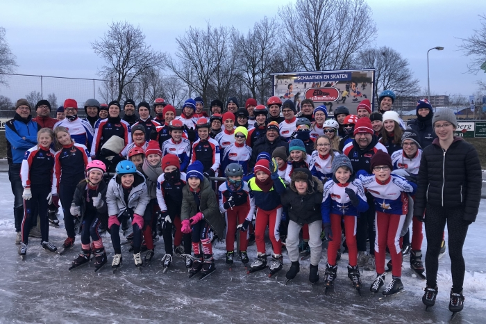De schaatsers van de EIJV genoten volop
