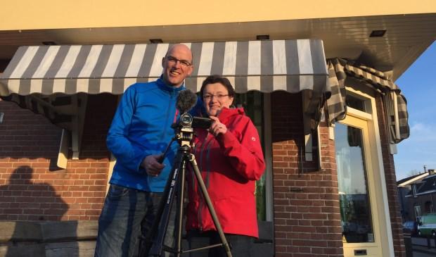 Daniel en Carmely tijdens de filmopnames.