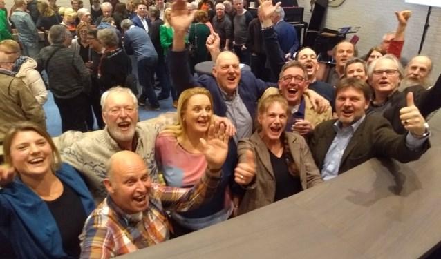 Juichstemming bij GGS dat met zes zetels de grootste partij in de gemeenteraad is geworden. Welgeteld kreeg GGS 184 stemmen meer dan de VVD.