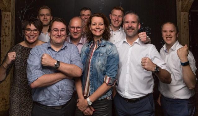 Lijsttrekker Hester Veltman met haar VVD-team.