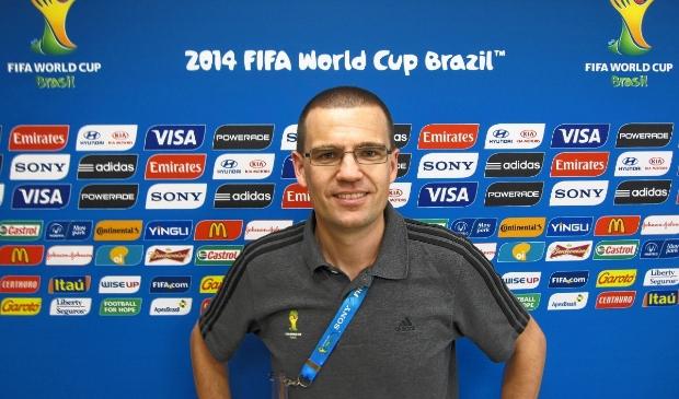 <p>Sander van Roekel op een archieffoto tijdens het WK 2014 in Brazili&euml;.&nbsp;</p>