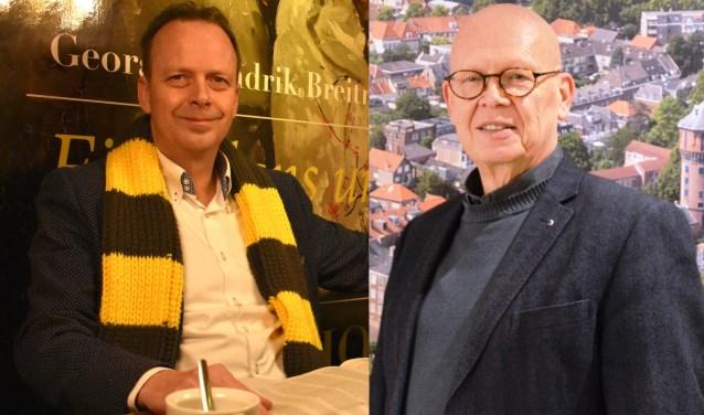 Pierre Schefferlie (Democraten Gorinchem) en Dick van Zanten (Stadsbelang)