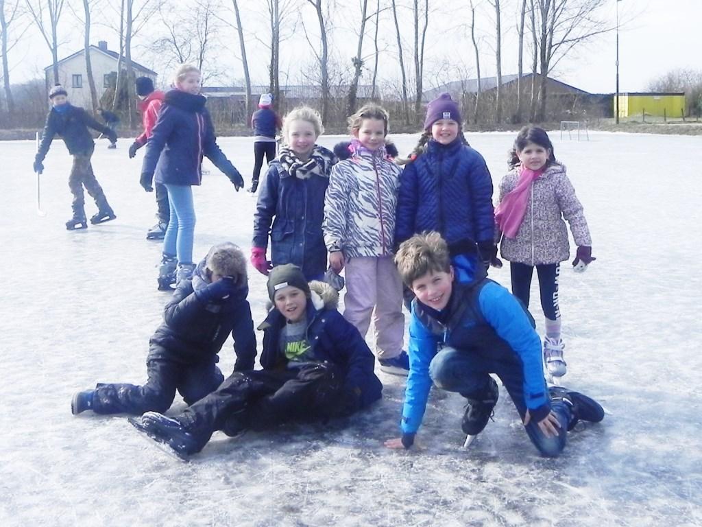 Deze kinderen hadden het erg naar hun zin op het ijs. Richard Thoolen © BDU media