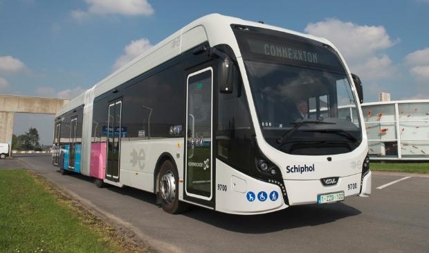 <p>E&eacute;n van de elektrische bussen, zoals die nu rijden op en rond Schiphol. Zero emissiebussen worden de toekomst.&nbsp;&nbsp;</p>