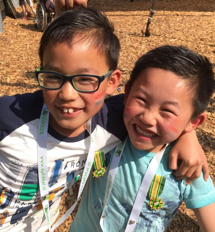 En-Ping & Yun met hun medaille, vlak na de ceremonie