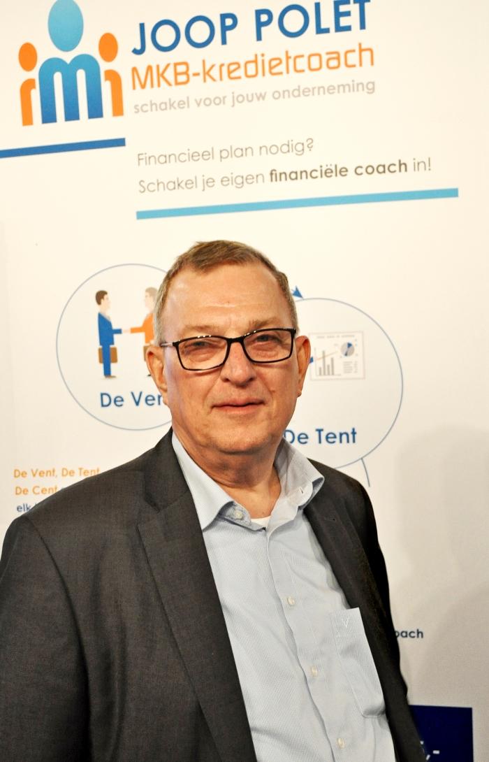 Joop Polet maakt op de Fenexpo zijn nieuwe initiatief voor hulp aan ondernemers bekend: MKB-kredietcoach Joop Polet