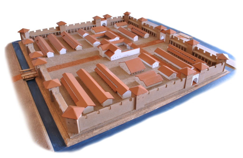 Model van het Romeinse fort Fectio (Gerard Baars) Gerard Baars © BDU media