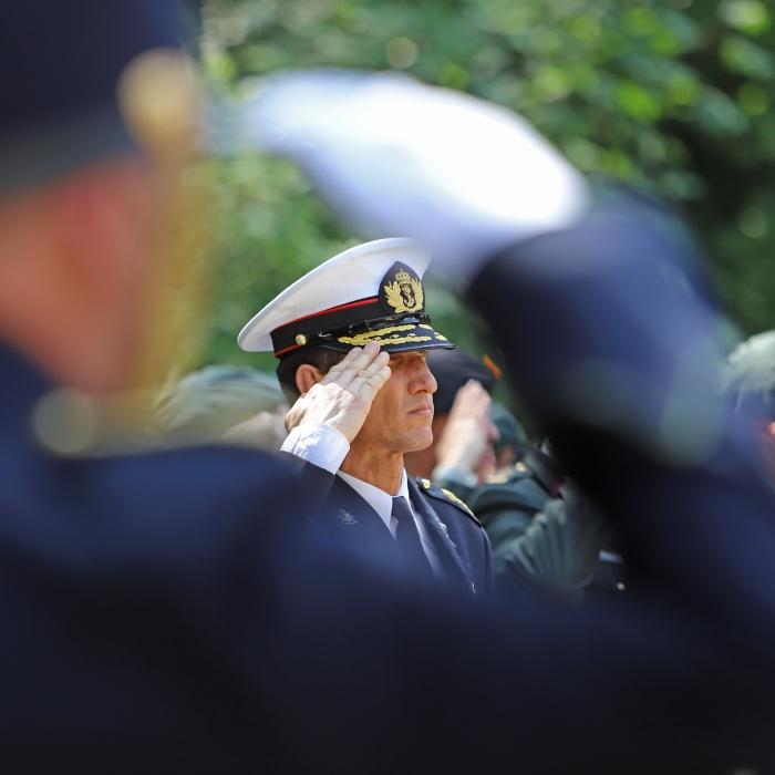 Brigadegeneraal der mariniers Jeff Mac Mootry Heidie Mulder © BDU