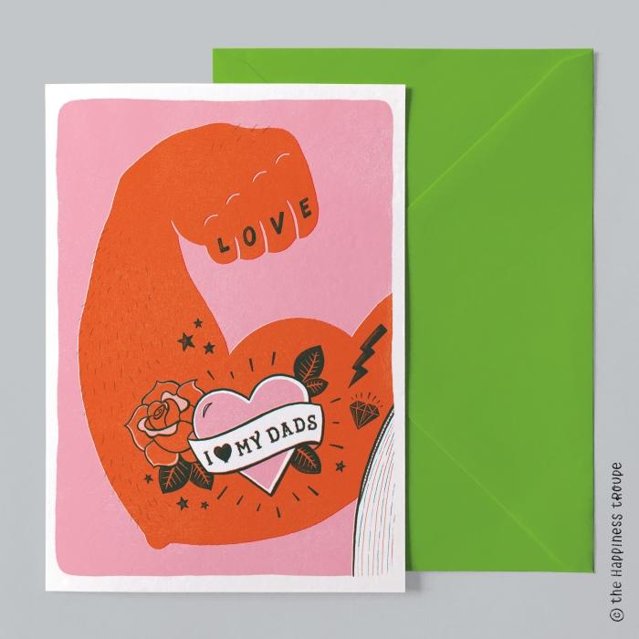 Een van de kaarten van the happiness troupe!