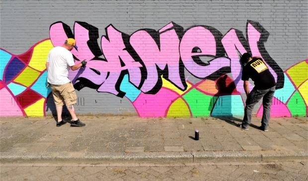 Een graffitimuur is één van de ideeën
