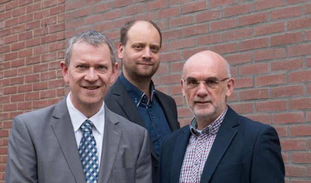 De raadsfractie van VoorBaarn: Tino Schouten, Bram van Ommen en Peter Blokker (vlnr).