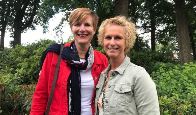 """Ellen Alders (links) en Wilma Gorissen: ,,Hoge werkdruk is een groot probleem."""""""