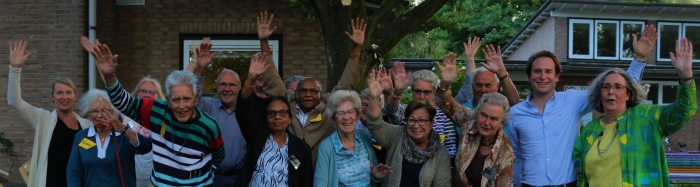 De blije deelnemers van de Gouden Diners.  Ans Vessies © BDU
