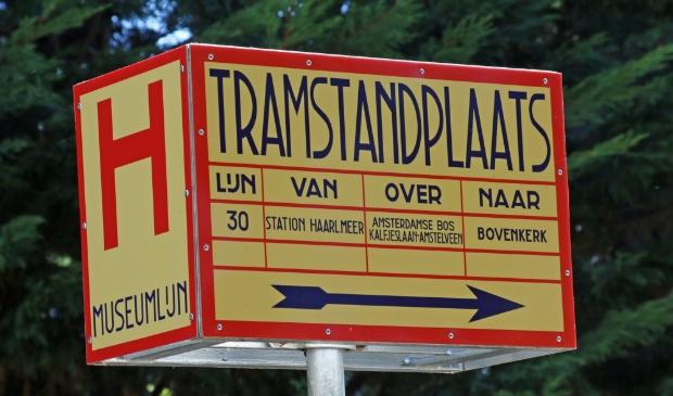 <p>Haltepaal van de EMA-trams.</p>