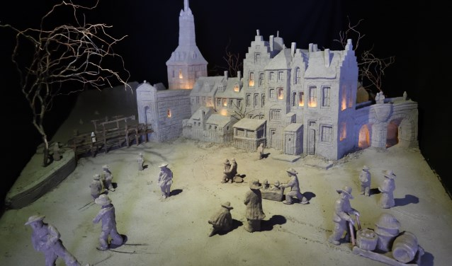 """Zandsculpturenfestijn met als thema """"Hollandse Meesters"""""""