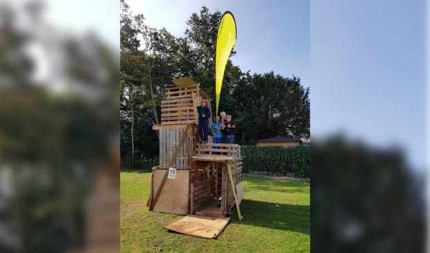 Een van de winnende hutten van het Timmerdorp vorig jaar.
