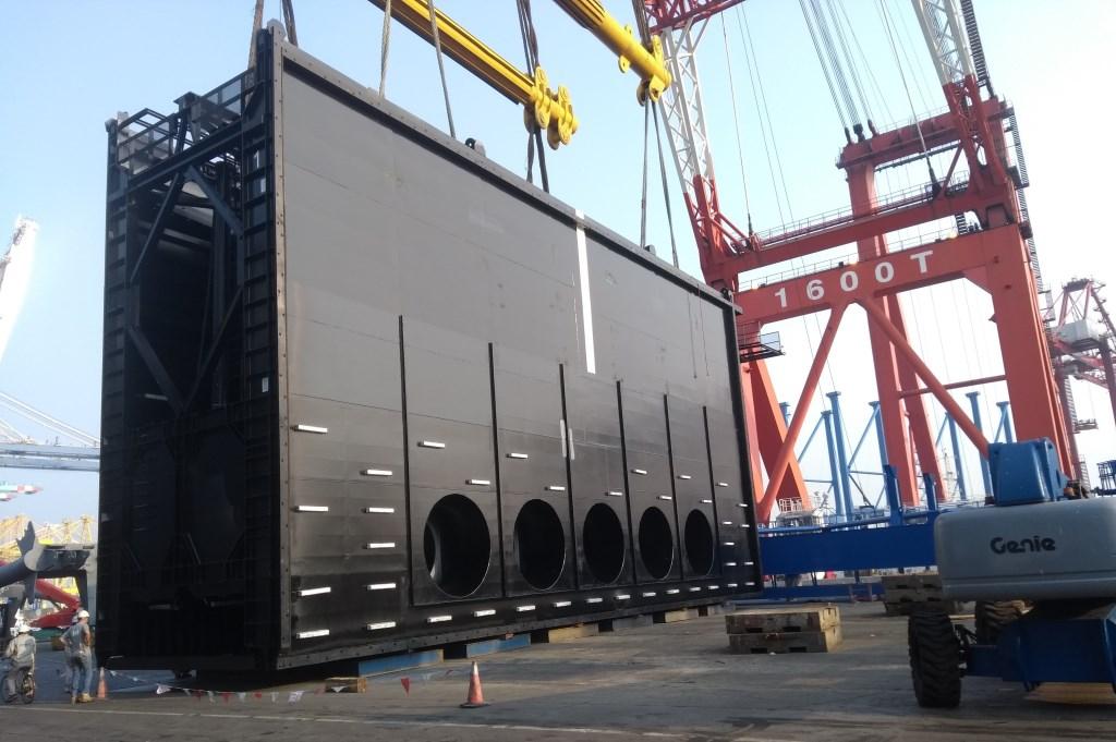 De sluisdeuren zijn vanuit China op transport gegaan naar Schiedam RWS © BDU media