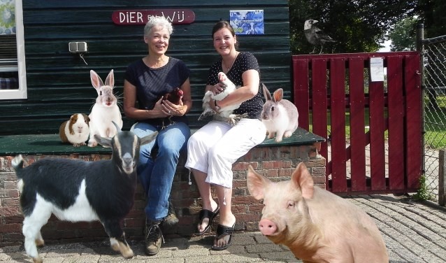 Marian en Anita zijn graag op de kinderboerderij met de bijzondere dieren.