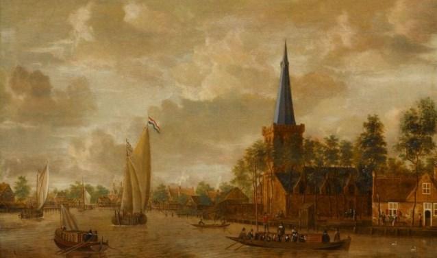 Schilderij 'derde kerk' Jacobus Storck ca 1660.
