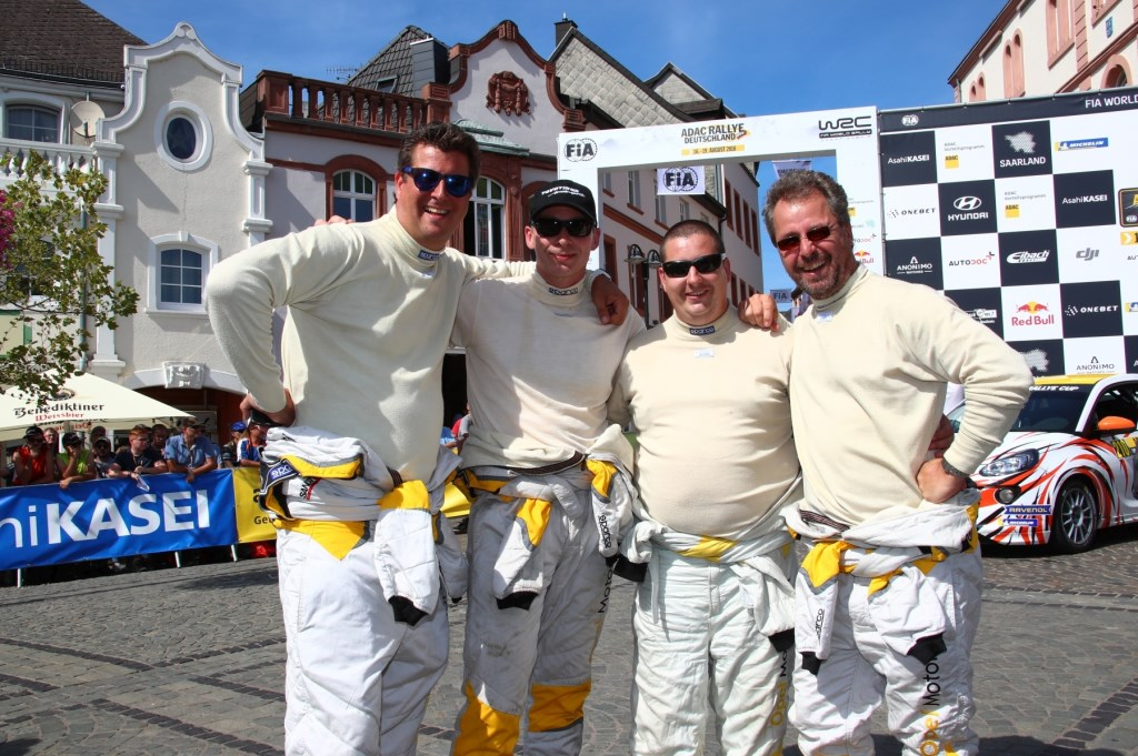 Het team dat meedeed aan de ADAC Rallye Deutschland Sascha Dörrenbächer © BDU media