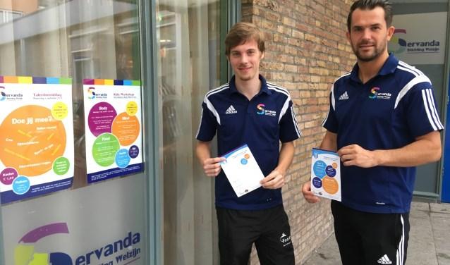 Buurtsportcoaches Maarten Hendrickx en Wesley van Gurp zijn enthousiast over de Nationale Sportweek