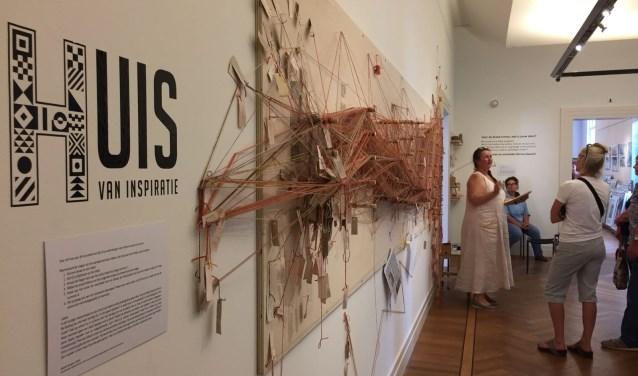 De afsluiting van de interactieve installatie van Marijke Bongers.