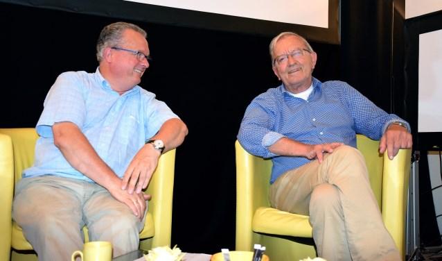 Jan Roeleveld (links) en Gerard Zandbergen (rechts) op de praatstoel