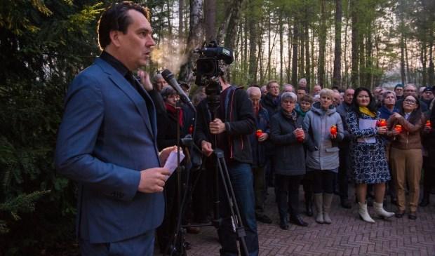 Remco Reiding bij de herdenking van de 101 Sovjetsoldaten op 9 april. Marco Hofsté © BDU media