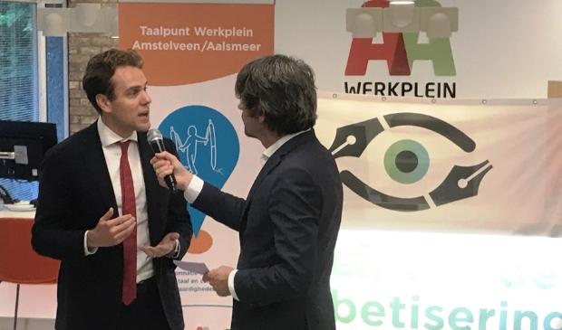 <p>Wethouder Marijn van Ballegooijen (Werk en Inkomen) tijdens een eerder interview op het Werkplein AA.</p>