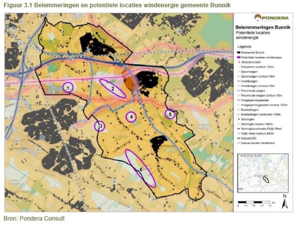 De zes locaties voor windmolens nader in beeld gebracht Ingrid van Kasteel © BDU media