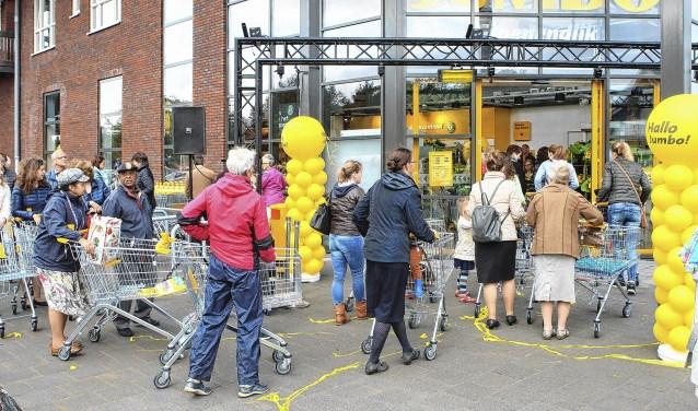De nieuwe Jumbo-supermarkt in de wijk Eilanden-Oost opende een jaar geleden de deuren.