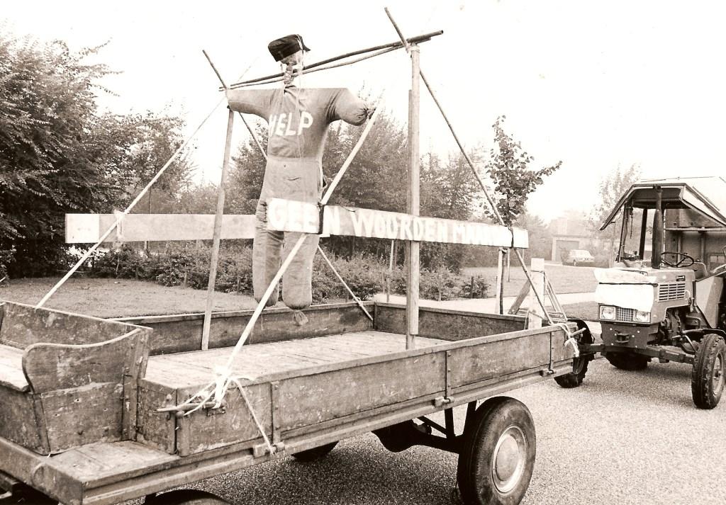 In 1974 was er een demonstratie van boeren in het centrum van Woudenberg.