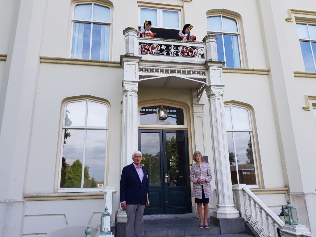 De start van de Open Monumentendag werd muzikaal ondersteund door twee herauten. Janneke Hek © BDU media