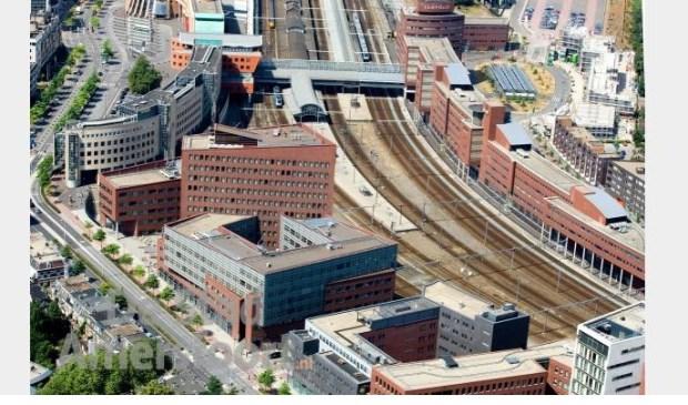 Het stationsgebied; Amersfoort wil hier méér bouwen maar mag dat niet.
