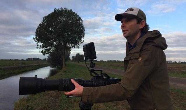 Natuurfilmer Stijn Philips wil mensen graag enthousiasmeren voor de Alblasserwaardse natuur