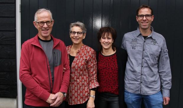 Van links naar rechts staan hierop: Bertus, Jeannette, Margriet en Daan Blom Willem Eelman © BDU media